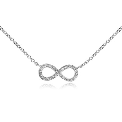 14k w/g diamond infinity necklace