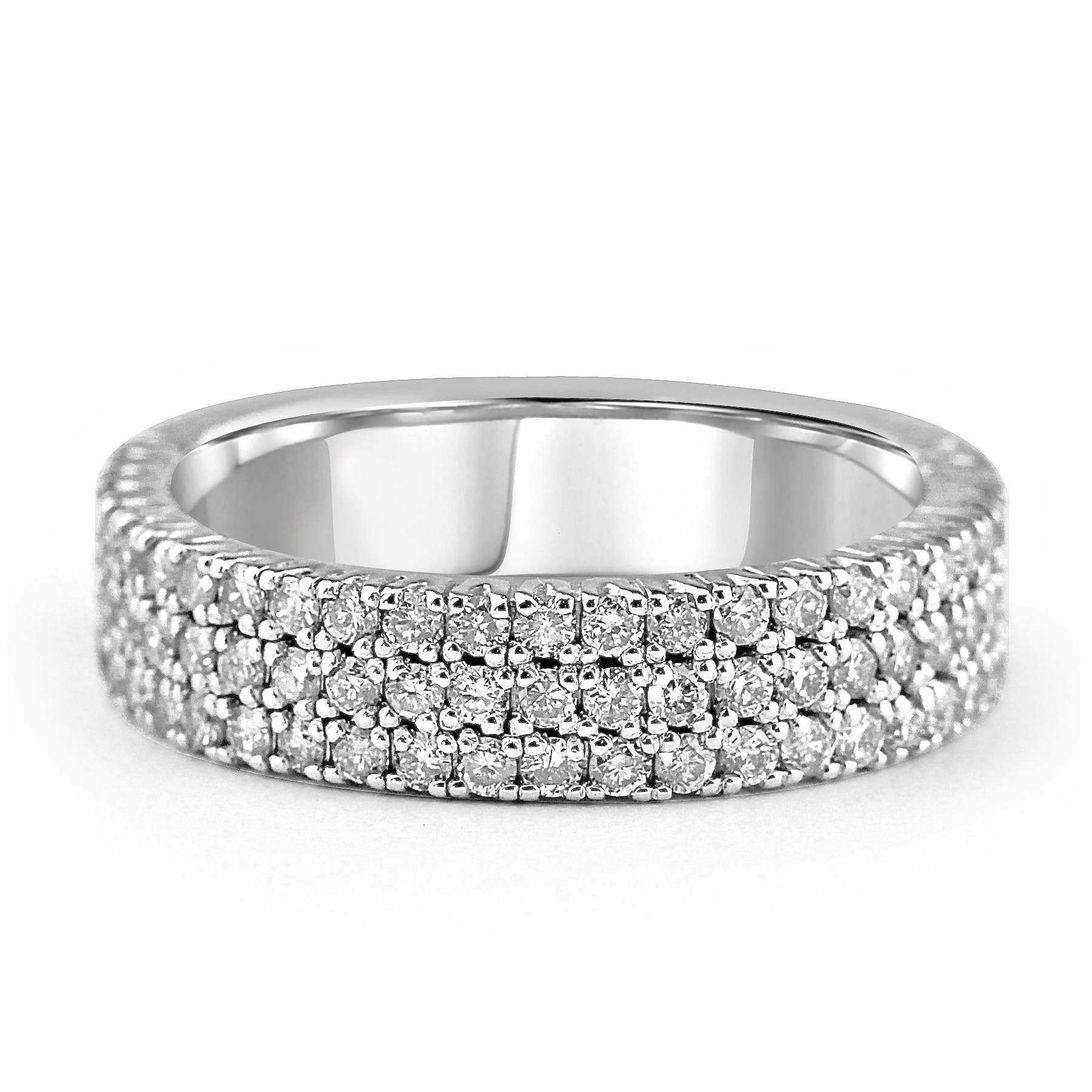 round products diamond gold white a upon band wedding once square