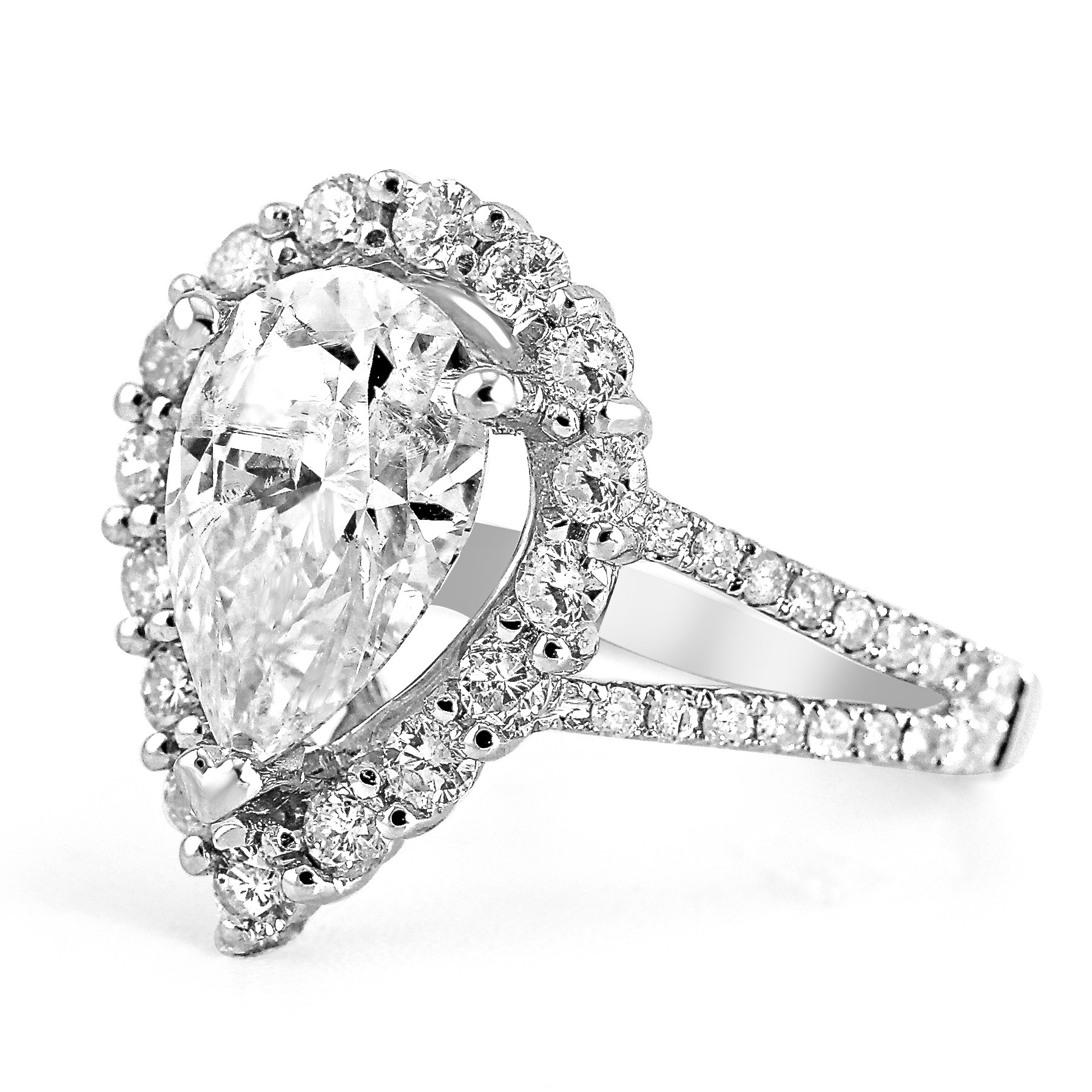pav in rings diamond ring engagement split pave platinum p ct shank tw eternal