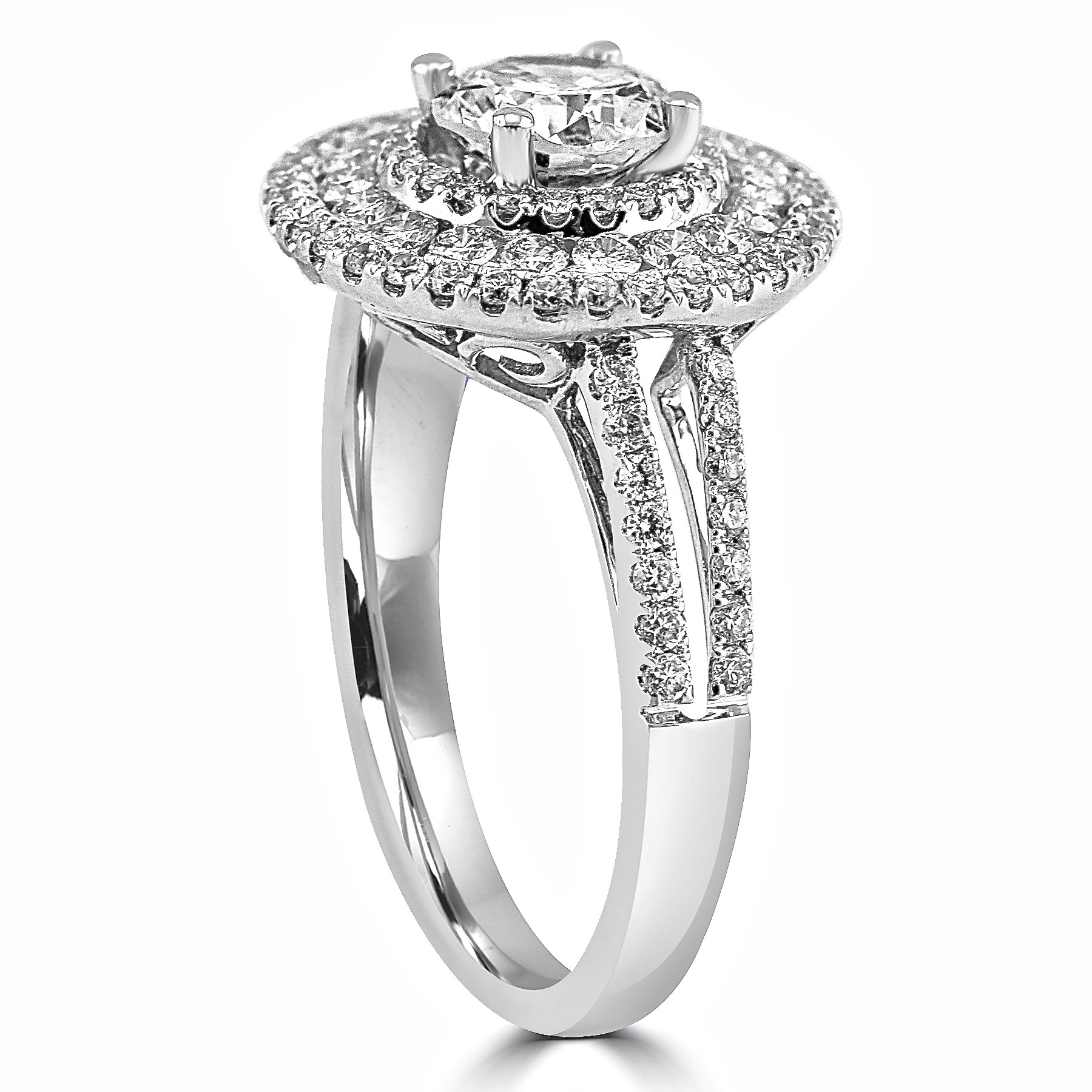 ring diamond stones head shank round rings and halo white with tw p side store split engagement gold platinum in