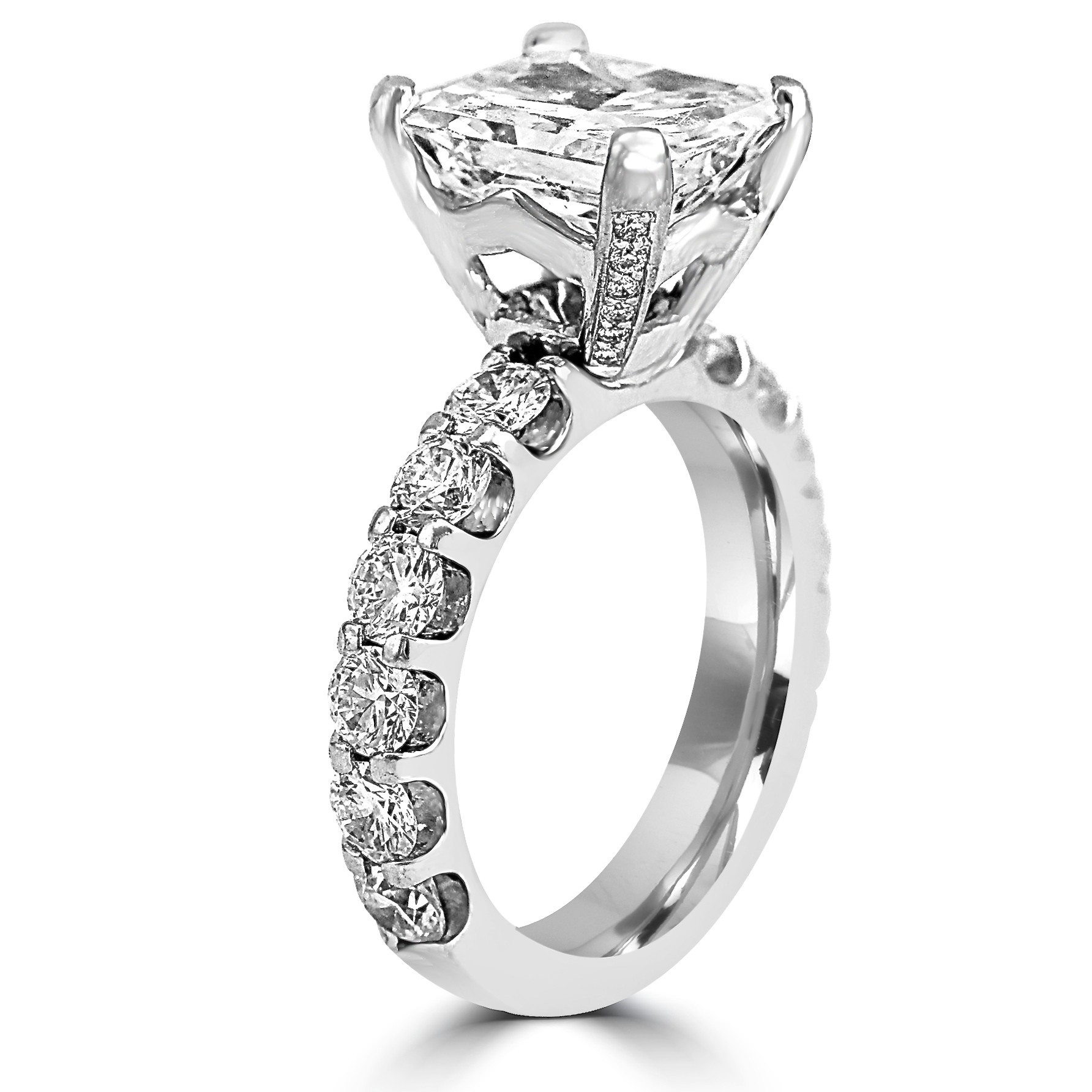 style set setting ring plat radiant kwiat in the platinum jewelry engagement solitaire diamond rings