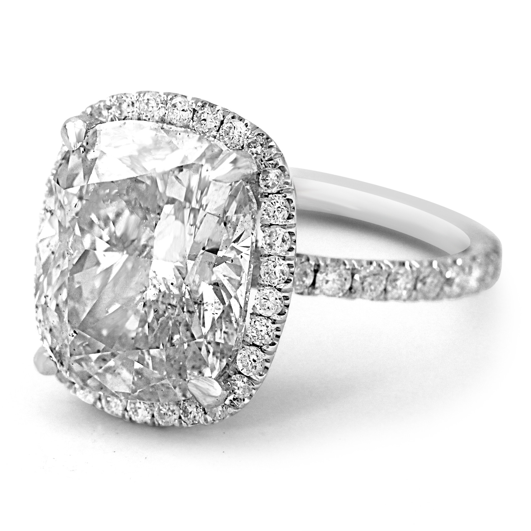 old shop cushion cut products platinum antique ring diamond