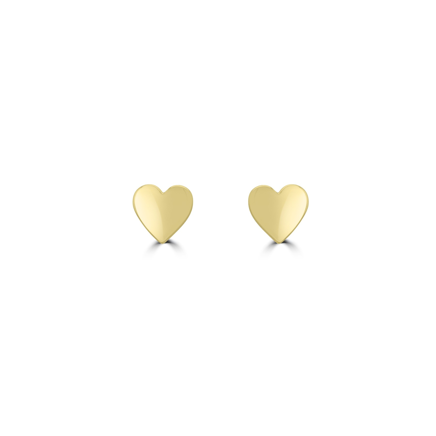 14k y/g heart earrings