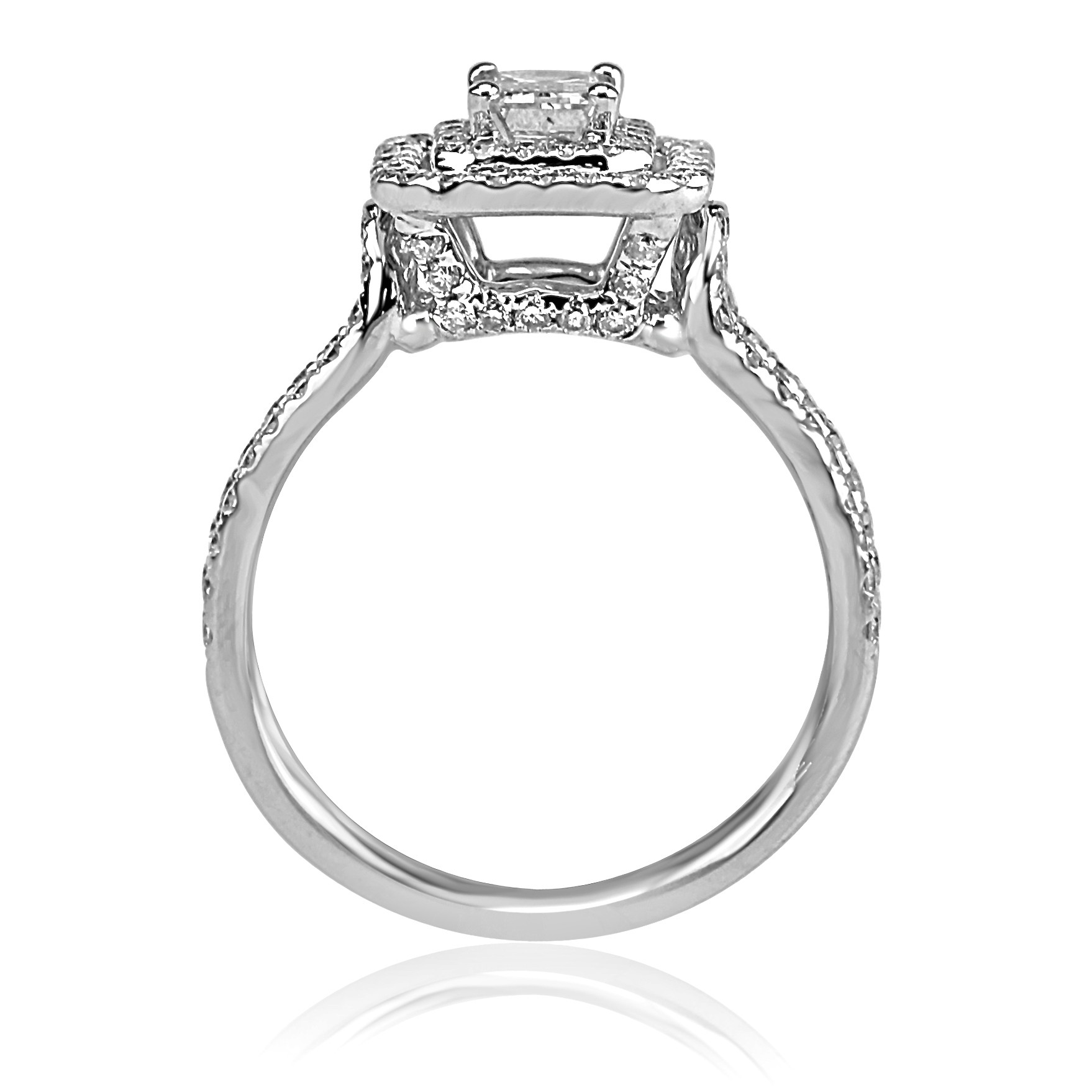 shank rings spilt daussi henri double ring aqs halo cushion engagement diamond side