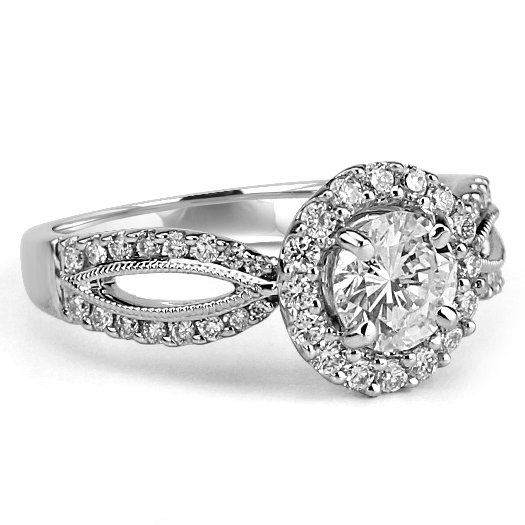 navarra round ring diamond product s halo cut double engagement infinity