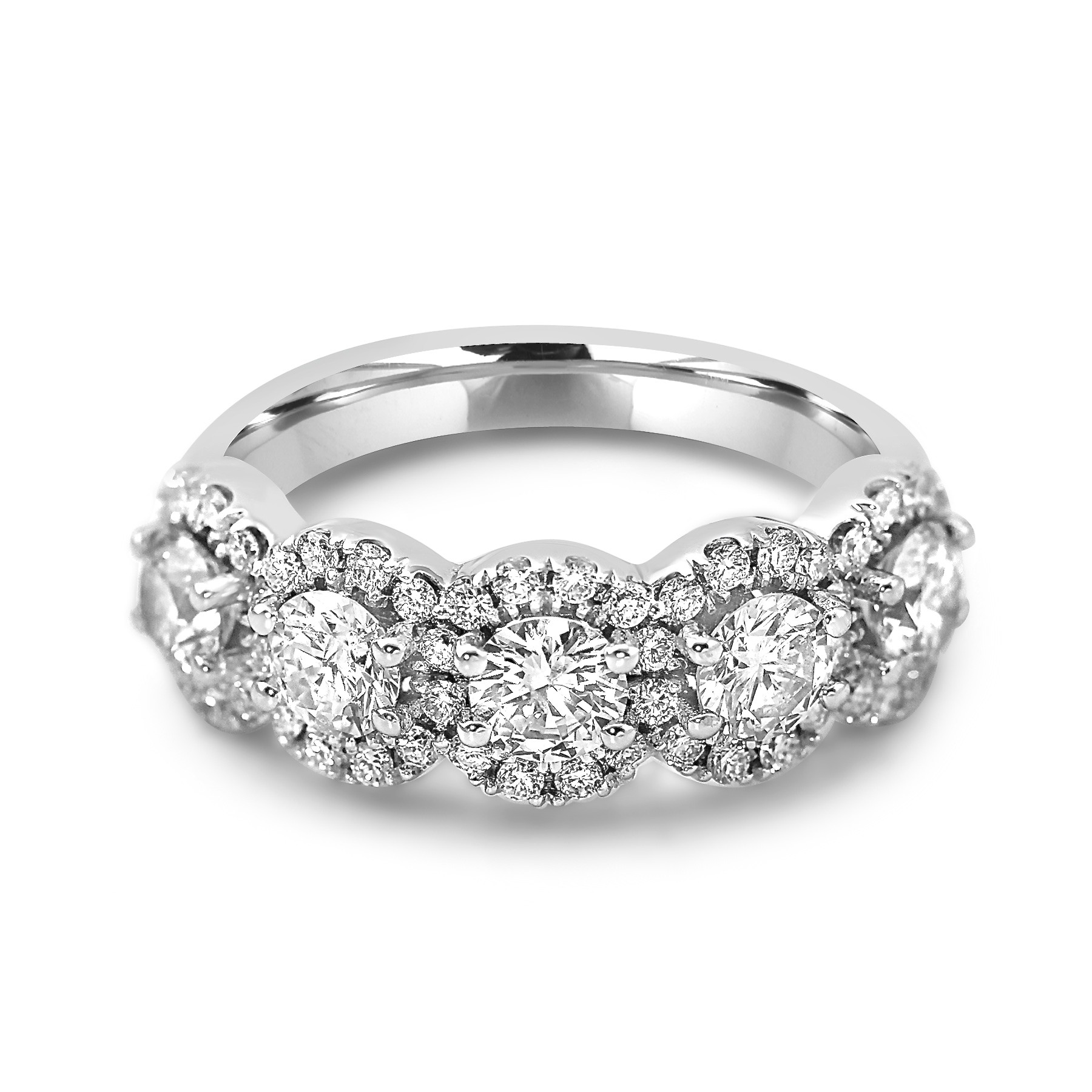 gold diamond cut a band eternity and ring bands white shop blaze baguette