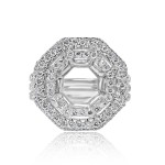 18k w/g octagon double halo setting 2.00ctw