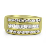 14k y/g diamond men's band 2.00ctw