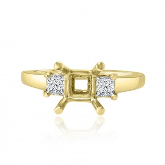 14k y/g solitaire diamond setting 0.49ctw