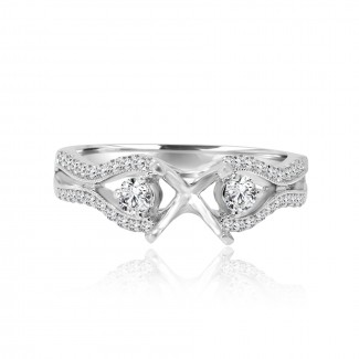 18k w/g solitaire diamond setting