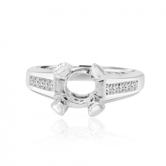 14k w/g solitaire diamond setting