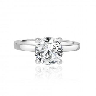 platinum round cut diamond solitaire engagement ring 2.02ctw
