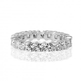 14K W/G ROUND DIAMOND eternity band 2.00tcw