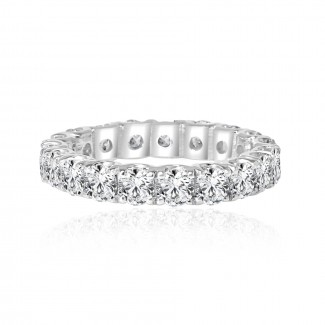 14k w/g diamond eternity band 2.75ctw