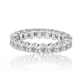 14k w/g round diamond eternity band