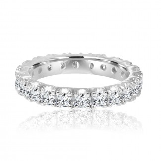 14k w/g diamond eternity band 1.66ctw