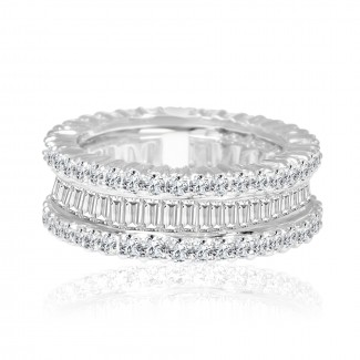 18k w/g diamond eternity band 2.62ctw
