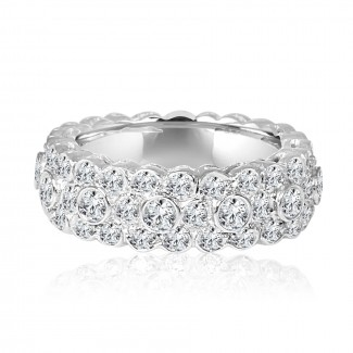 14k w/g diamond eternity band 2.00ctw