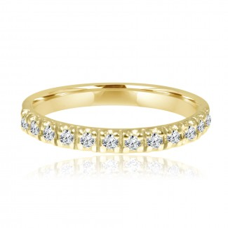 14k y/g half-way diamond band