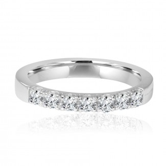 14k w/g 7-stone diamond band