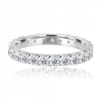 14k w/g diamond eternity band 1.25ctw