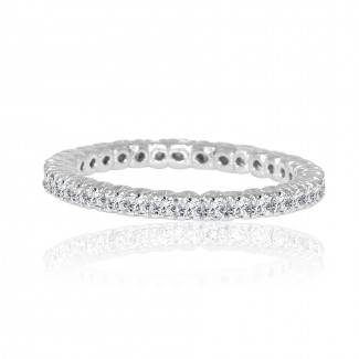 14k w/g diamond eternity band 1.00ctw