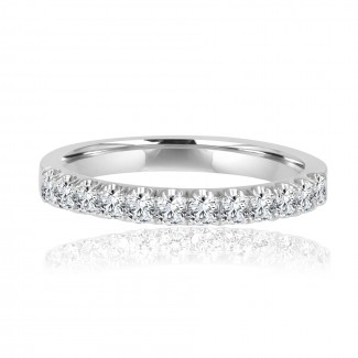 14k w/g half-way diamond band