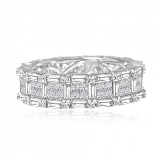 18k w/g diamond eternity band 3.09ctw