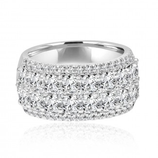 14k w/g 5-row diamond band 2.00ctw