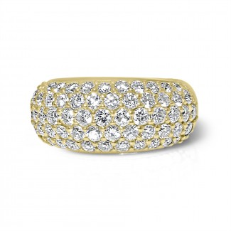 14k y/g wide domed diamond band
