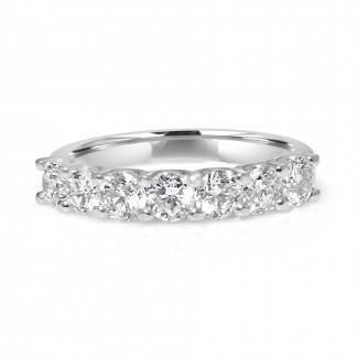 14k w/g 7-stone diamond band 1.00ctw
