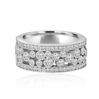14k w/g round diamond band 2.50ctw