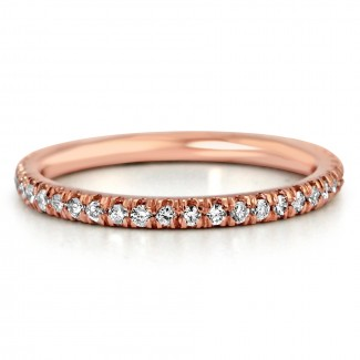 .75ctw 14k r/g round diamond band