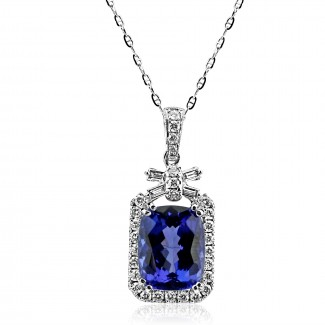 14k w/g tanzanite necklace