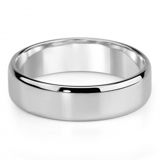 14k w/g mens wedding band high polish finish