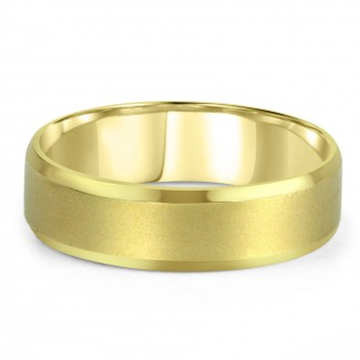 14k y/g mens band satin & high polish finish