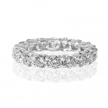 14k w/g round diamond eternity band 2.50tcw