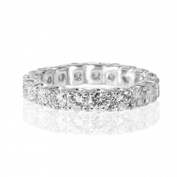 14k w/g round diamond eternity band 3.00tcw