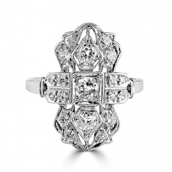 Platinum Antique Style Diamond Ring