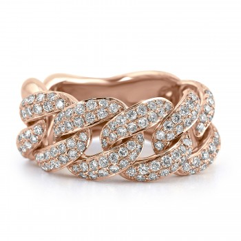 18K R/G Link & Chain Diamond Fashion Ring