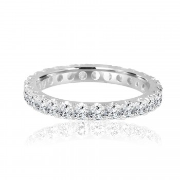 14k w/g diamond eternity band 1.41ctw