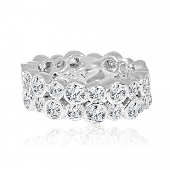 14k w/g diamond eternity band 2.60ctw