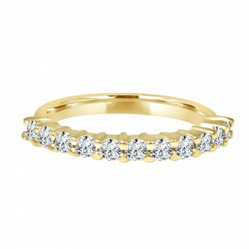 14k y/d diamond band
