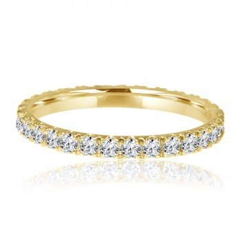 14k y/g diamond eternity band