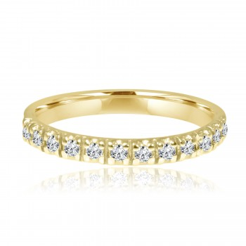 14k y/g diamond eternity band 1.50ctw