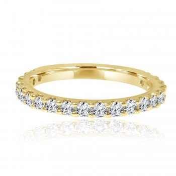 14k y/g diamond band