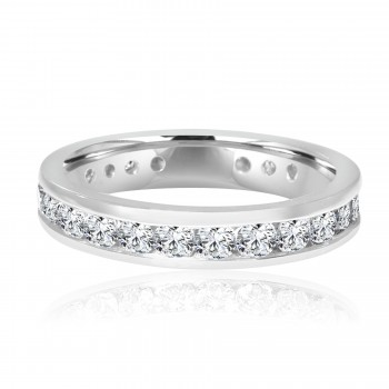 platinum channel set diamond eternity band 2.11ctw