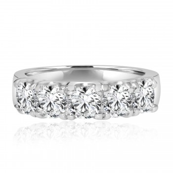 14k w/g 5-stone diamond band 1.18ctw