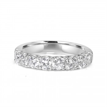 14k w/g 8-stone diamond band 1.25ctw
