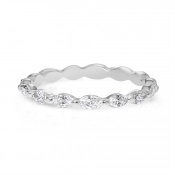 14k w/g marquise diamond band east west design